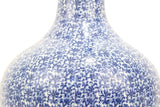 Beautiful Large Blue and White Porcelain Chinese Cluster Round Vase 22""
