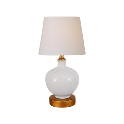 Beautiful White Porcelain Vase Table Lamp 13""