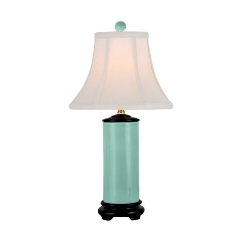 Cute Style Green Porcelain Table Lamp 21""