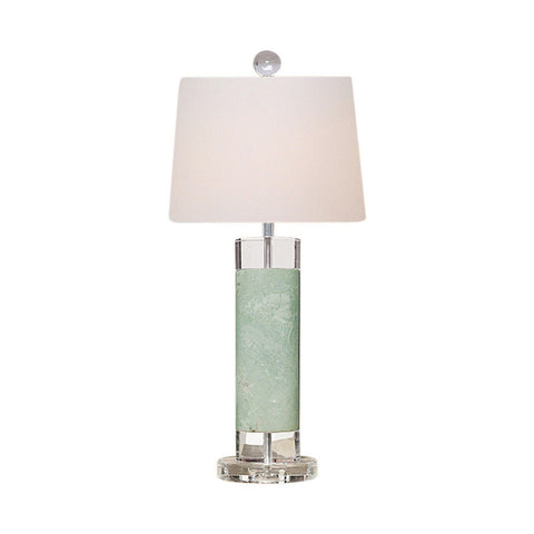 Green Jade Cylindrical Porcelain Table Lamp 26""