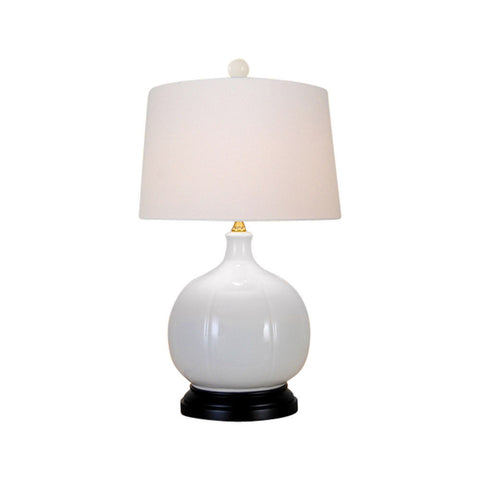 Beautiful White Porcelain Vase Table Lamp 22""
