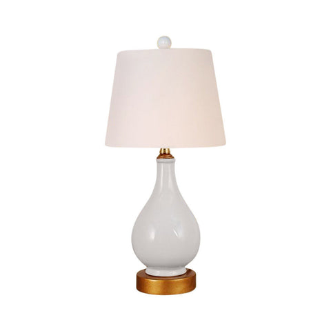 Beautiful White Porcelain Vase Table Lamp 17""