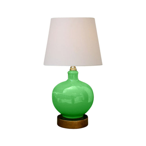 Beautiful Green Porcelain Vase Table Lamp 13""