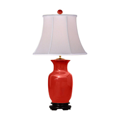 Beautiful Red Porcelain Vase Table Lamp 31.5""