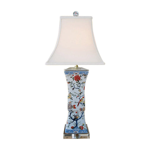 Chinese porcelain square vase table lamp bird floral motif 28 chinese porcelain square vase table lamp bird floral motif 28 aloadofball Images
