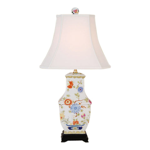 Beautiful Floral Chinese Porcelain Vase Table Lamp 28""