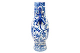 Blue and White Porcelain Blue Willow Moon Vase 15""