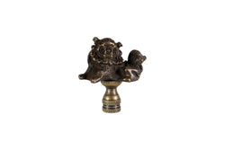 Bronze Foo Dog Figurine Table Lamp Finial 2.5""