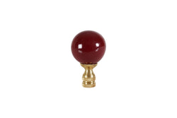 Ox Blood Porcelain Ball Table Lamp Finial 2.5""