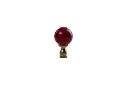 Red Jade Ball Table Lamp Finial 2.5""
