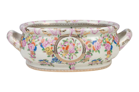 Beautiful Chinese Floral Motif Porcelain Foot Bath 16""