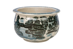 "Dark Blue and White Blue Willow Bowl 8"" Diameter"
