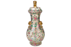 Rose Canton Porcelain Temple Jar 25""