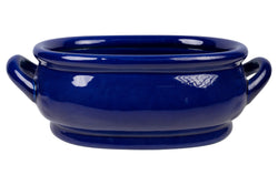 "Oriental Cobalt Blue Porcelain Handled Footbath 17"" Length"