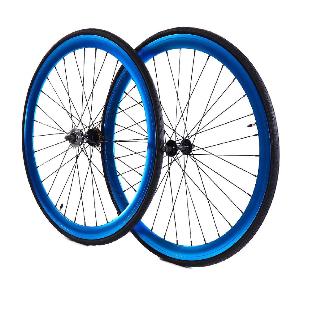 Wheelset - Blue Anodized 700c