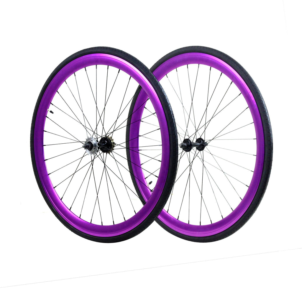Wheelset - Purple Anodized 700c