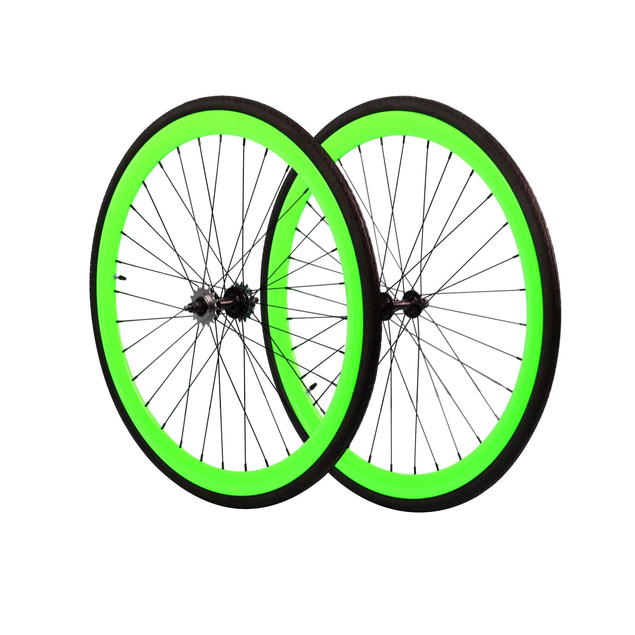 Wheelset - Neon Green 700c