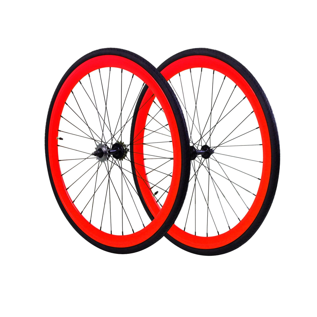Wheelset - Red 700c
