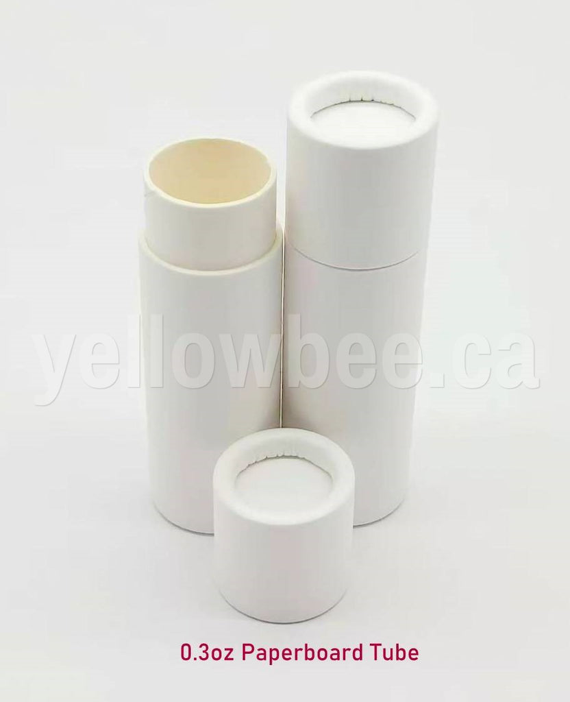 Paperboard Lip Balm Tube (White) - 0.3oz