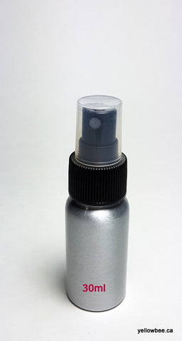 Aluminum Bottle with Black Mister - 30ml