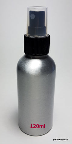 Aluminum Bottle with Black Mister - 120ml