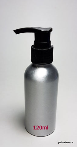 Aluminum Bottle with Black Pump - 120ml