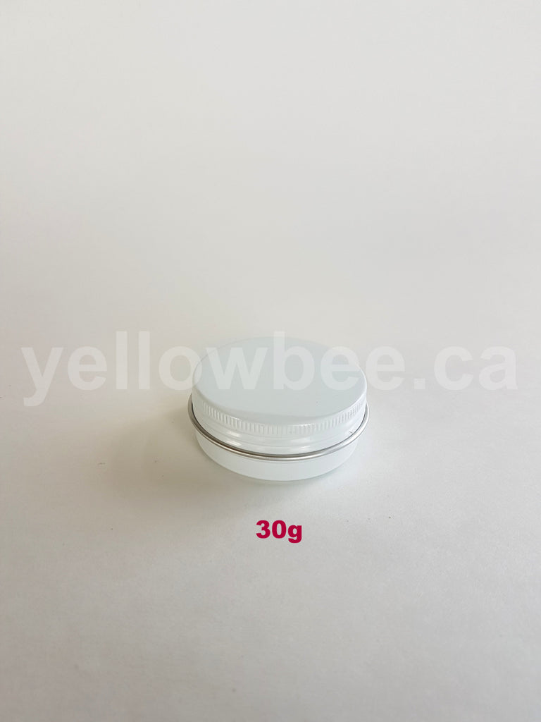 Metal Tin (White) with Screw Lid - 30g / 1.06oz