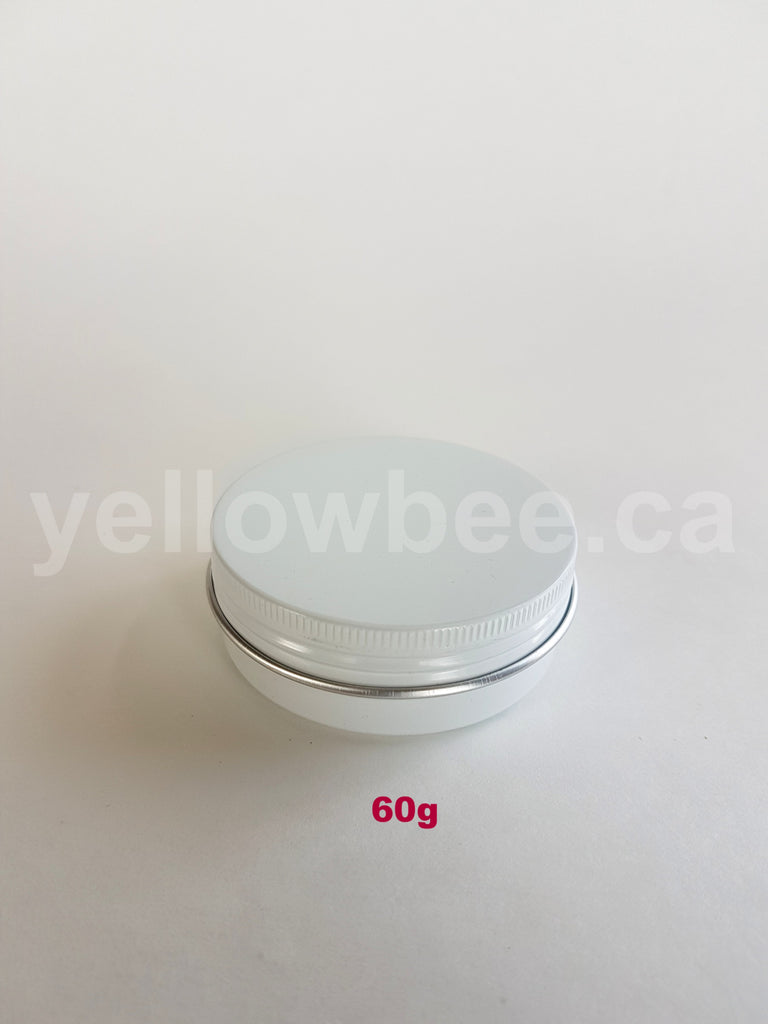 Metal Tin (White) with Screw Lid - 60g / 2.12oz