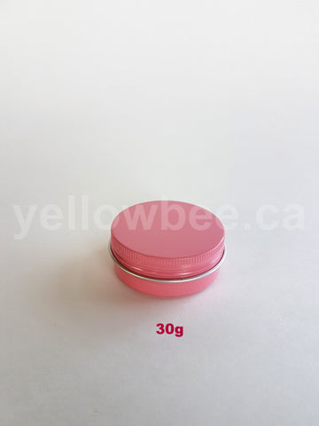 Metal Tin (Pink) with Screw Lid - 30g / 1.06oz