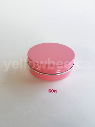 Metal Tin (Pink) with Screw Lid - 60g / 2.12oz