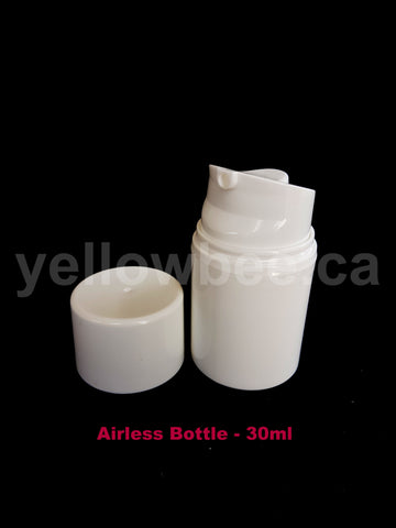 Airless Pump Bottle - White - 30ml / 1oz