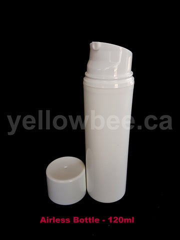 Airless Pump Bottle - White - 120ml / 4oz