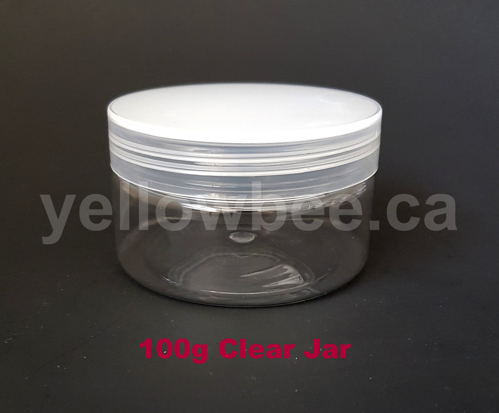 Clear PET Jar with Clear Lid - 100g