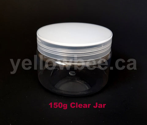 Clear PET Jar - Clear Lid - 150g / 5.29oz