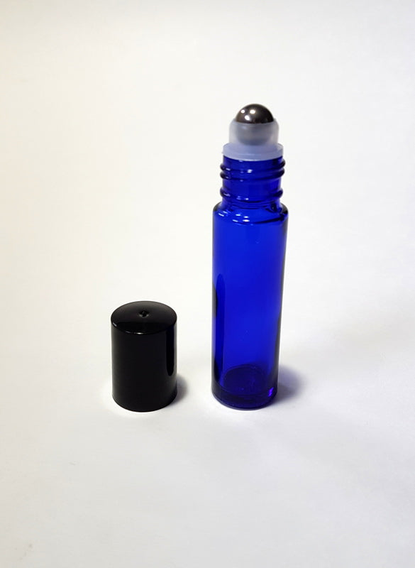 Cobalt Blue Perfume Roller Bottle - 10ml / 0.34oz (Pack of 12pcs)