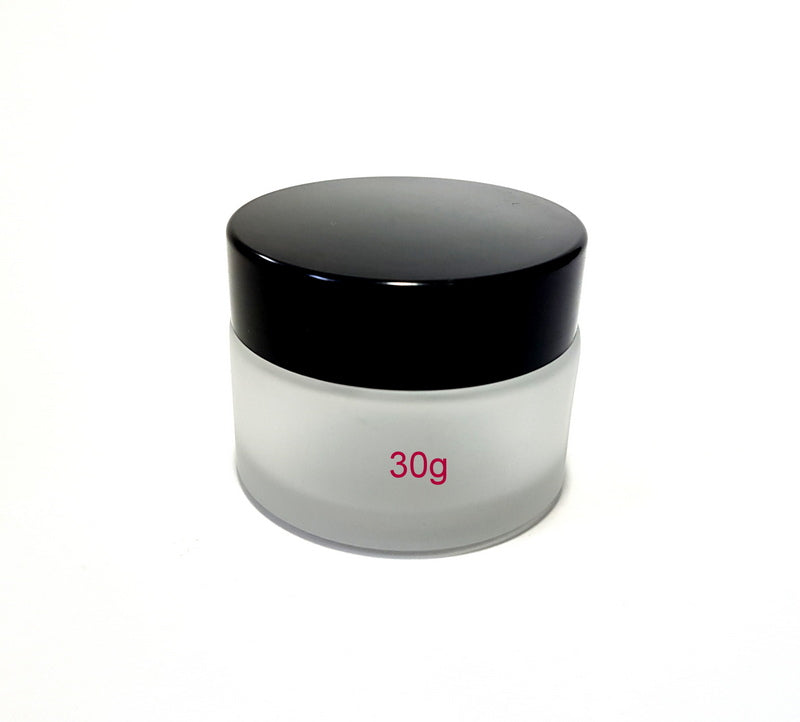 Frosted Glass Jar - 30g / 1oz