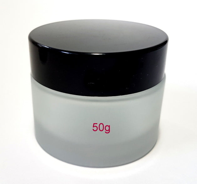 Frosted Glass Jar - 50g / 1.8oz