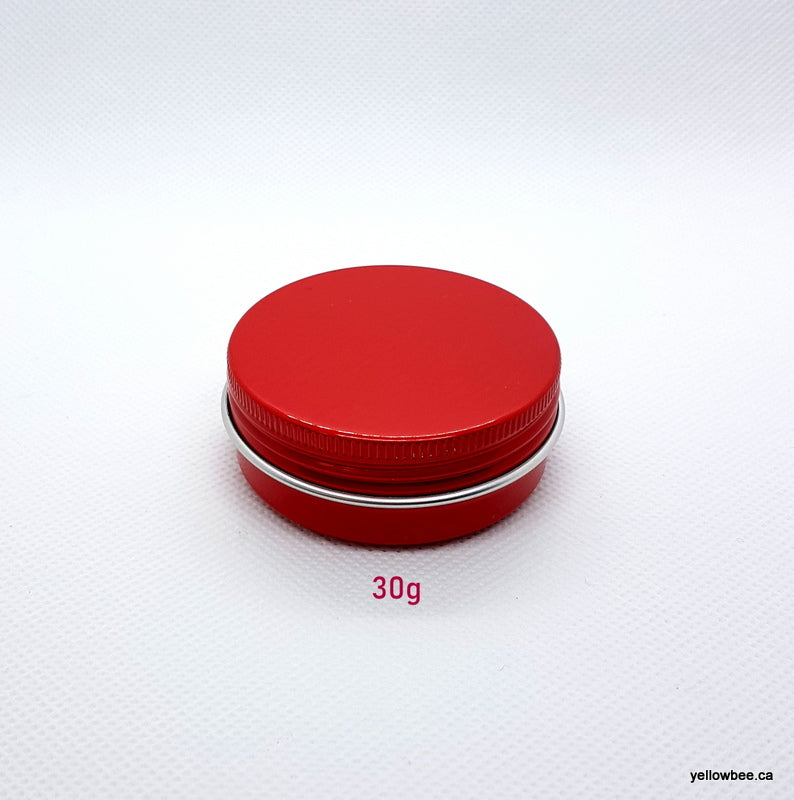 Metal Tin (Red) with Screw Lid - 30g / 1.06oz