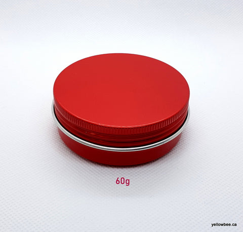 Metal Tin (Red) with Screw Lid - 60g / 2.12oz