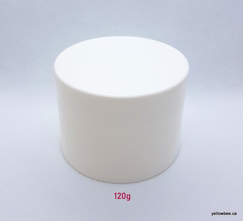Hi-Gloss PP Plastic White Double Wall Jar - 120g