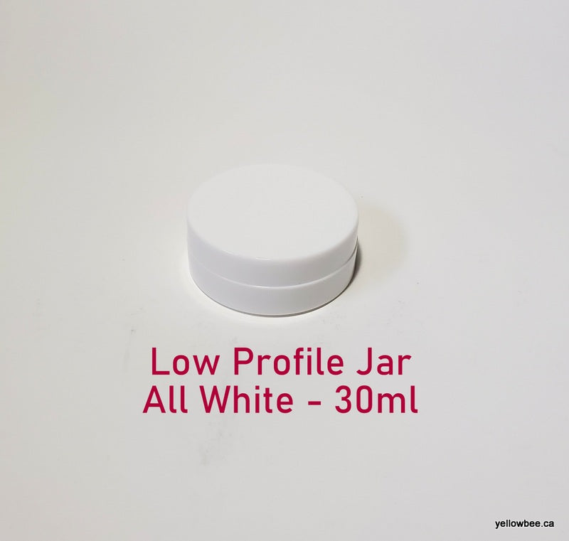 Low Profile Double Wall All-White Plastic Jar - 30ml