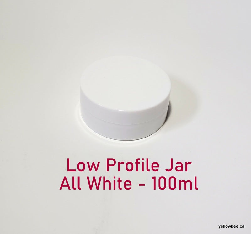 Low Profile Double Wall All-White Plastic Jar - 100ml