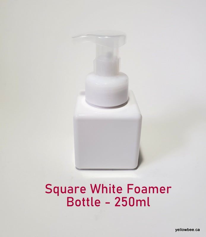 Square Foamer Bottle - White - 250ml