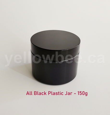 All Black Plastic Jar - 150g