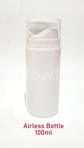 Airless Pump Bottle (Short) - White - 100ml / 3.34oz