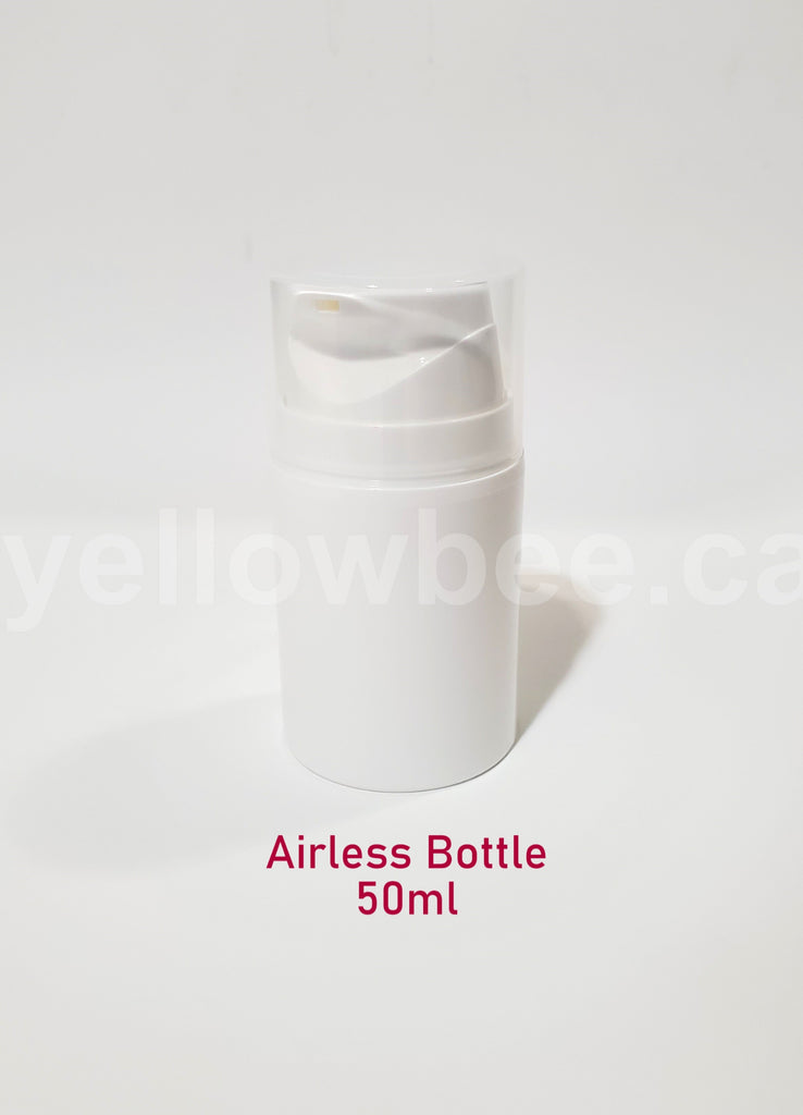 Airless Pump Bottle (Short) - White - 50ml / 1.69oz