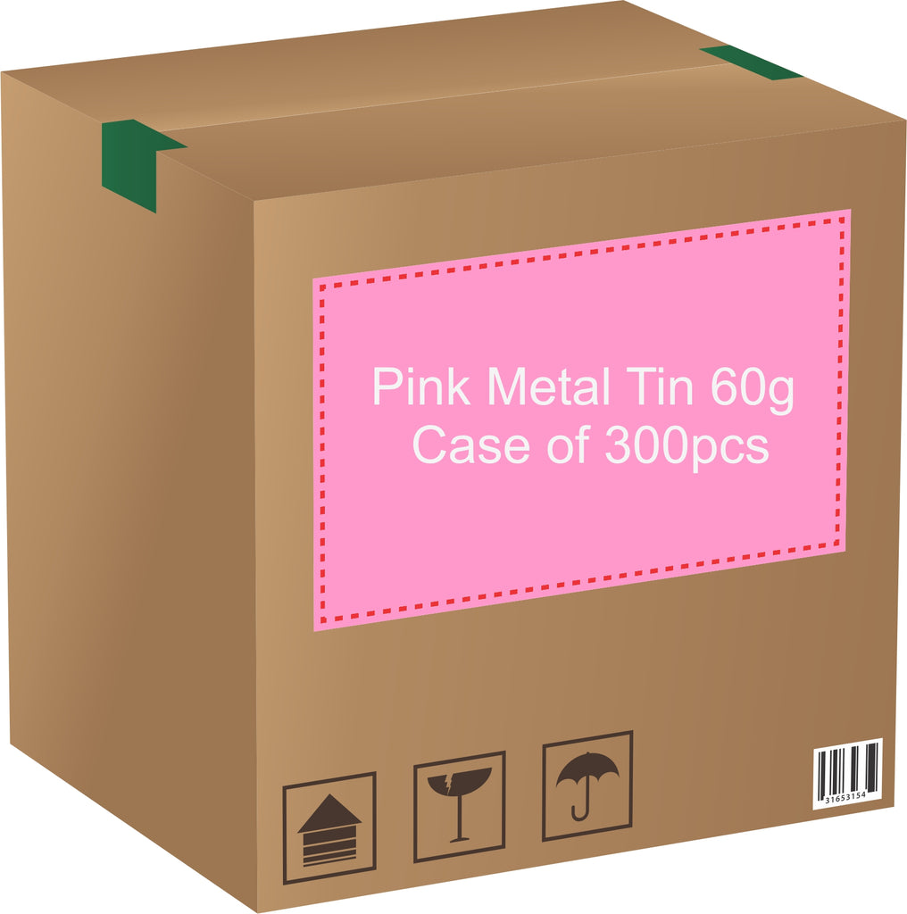Metal Tin (Pink) with Screw Lid - 60g / 2.12oz (Full Case of 300pcs)