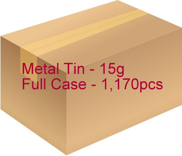 Metal Tin with Screw Lid - 15g / 0.53oz (Full case of 1,170 pcs)