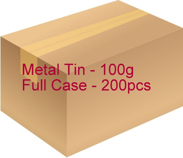 Metal Tin with Screw Lid - 100g / 3.53oz (Full Case of 200pcs)
