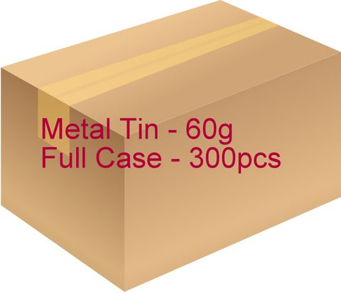 Metal Tin with Screw Lid - 60g / 2.12oz (Full Case of 300pcs)